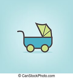 baby icons of stroller