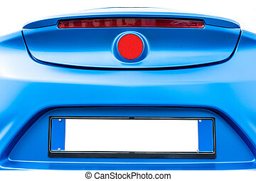 Blue back car