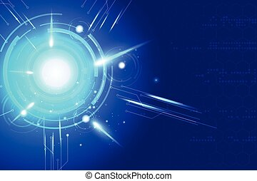 blue background abstract technology communication concept