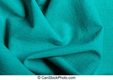 Blue background abstract wavy folds cloth