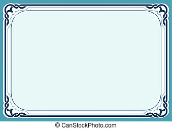 Blue background and frame