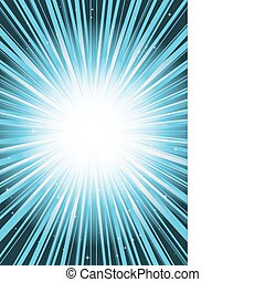 Blue background blast