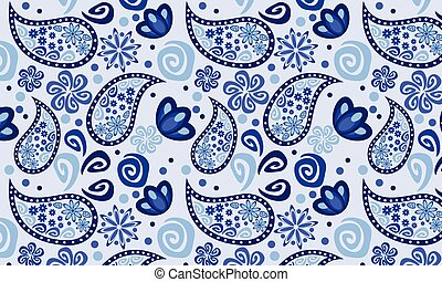 Blue background cucumbers seamless