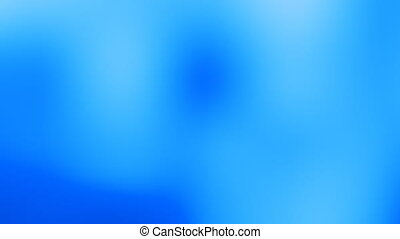 Blue background.