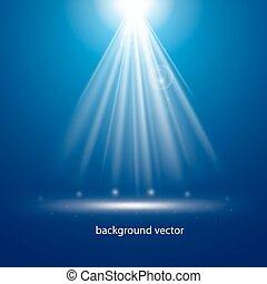 Blue background lighting.