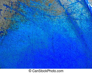 Blue background - Metal plate with blue paint
