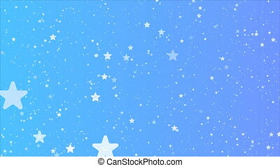 blue background of abstract stars