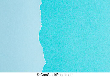 background of paper with a ragged edge in the middle
