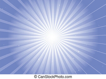 Blue background rays