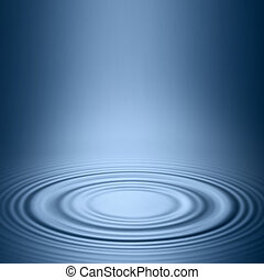 Blue background smooth circles on the water.