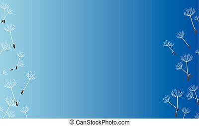 blue background spring style collection