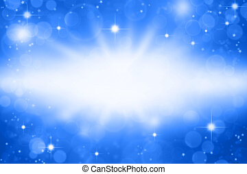 Stars on blue background. Copy space