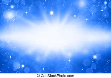 Blue background - Stars on blue background. Copy space