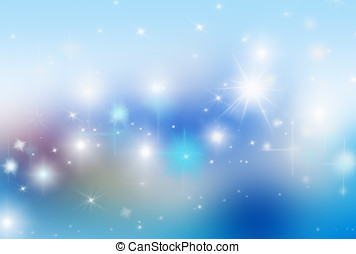 blue background with highlights and stars