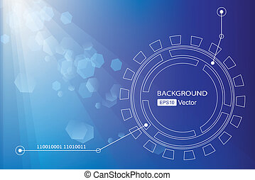 Blue background  Technology