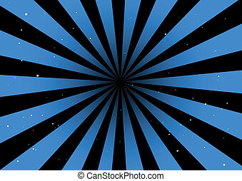 Blue background vector rays - Blue background rays ...