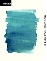 Blue Background Watercolor