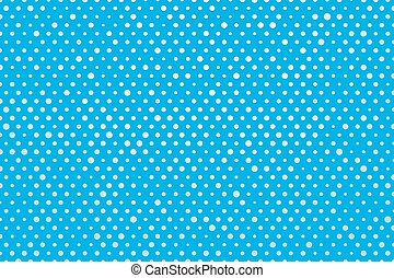 blue background white polka dots