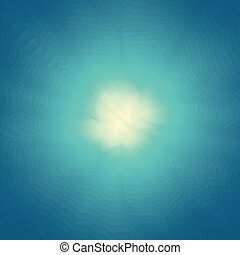 Blue background with a bright center. Abstract blue water background with sunbeams. Modern pattern. Vector Illustration For Your Design.