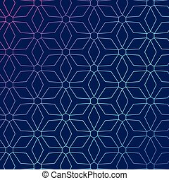 Blue background with abstract geometric pattern