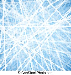 Blue background with abstract ice pattern.