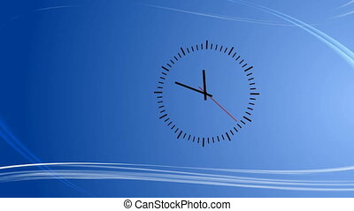 Blue background with abstract wind