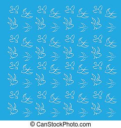 Blue background with birds