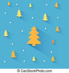 Blue background with christmas tree