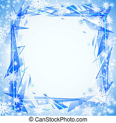 Blue background with cristals