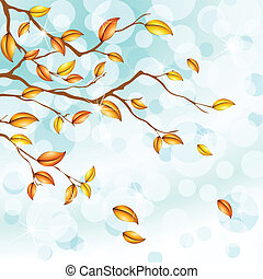 blue background with foliage