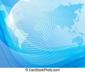 Blue background with globe 3