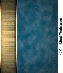 Blue background with gold texture stripe layout