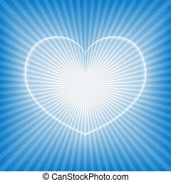 Blue background with heart