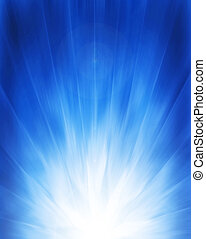 blue background with light rays