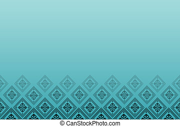 Blue background with line of diamonds