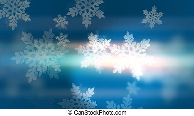 """""""Blue background with loop animation of snowflakes"""" - """" ..."""