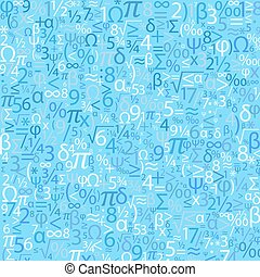 Blue background with numbers, vector