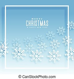 blue background with snowflakes illustration