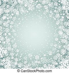 Blue background with snowflakes. Vector illustration