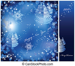 Blue background with sparkles star. Vector