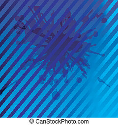 Blue background with stripe pattern