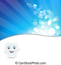 Blue Background With Tooth Icon