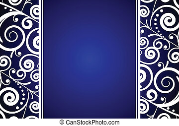 blue background with white ornament