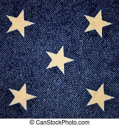 Blue background with white stars