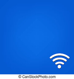 Blue Background With Wi fi Symbol