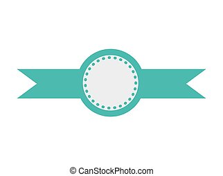 blue badge stamp icon