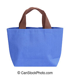 blue bag isolated on white background
