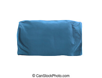 Blue bag isolated over white background