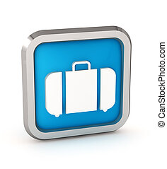 blue baggage icon on a white background