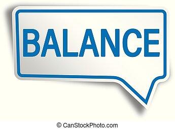 blue balance modern speech bubble tag web icon